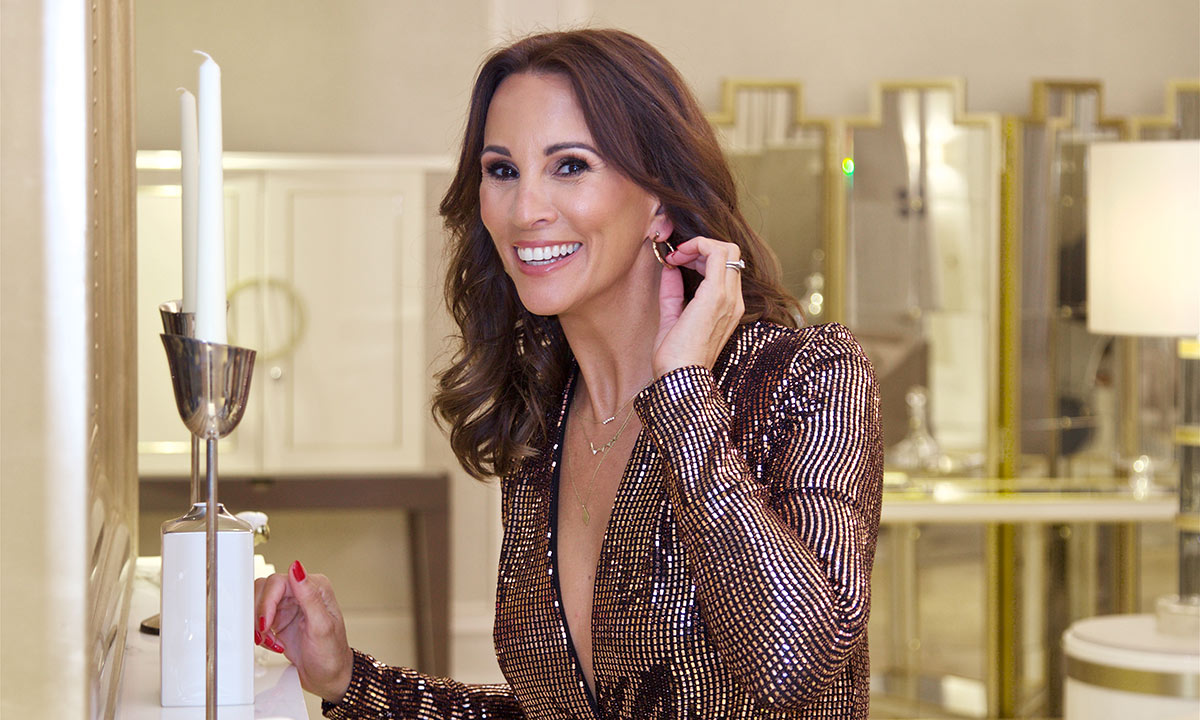 Inside Andrea McLean's lavish hotel suite: the star's 50th birthday party look and her fabulous New Look shoes! | SD News