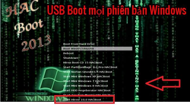 Cách phá Password Win 7/8/8.1/10 100% thành công bằng USB Hiren's Boot -