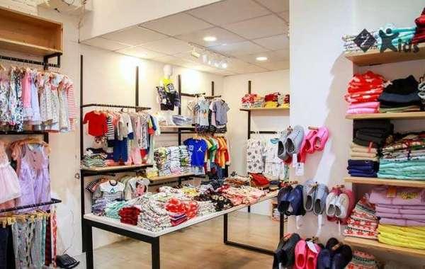 Thiết kế giá kệ shop quần áo trẻ em đẹp tại Tphcm