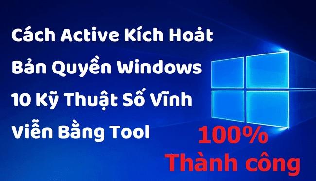 Crack Win 10 chỉ với 1 Click 100% thành công bằng Tool Script -