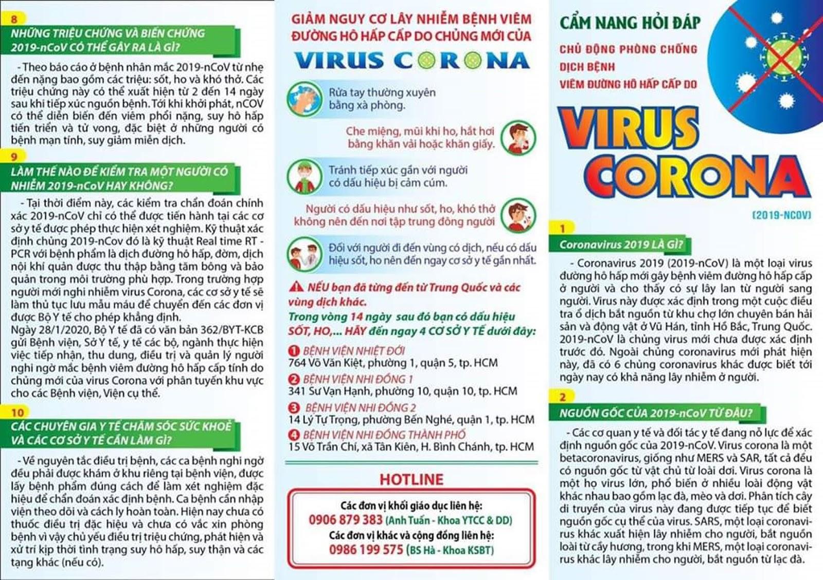 Hướng dẫn phòng chống virus Corona