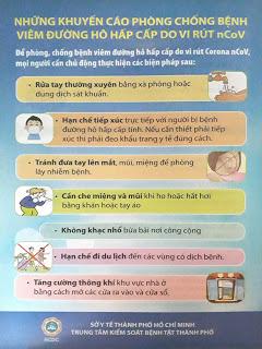 Những khuyến cáo phòng chống bệnh viêm đường hô hấp cấp do vi rút nCoV