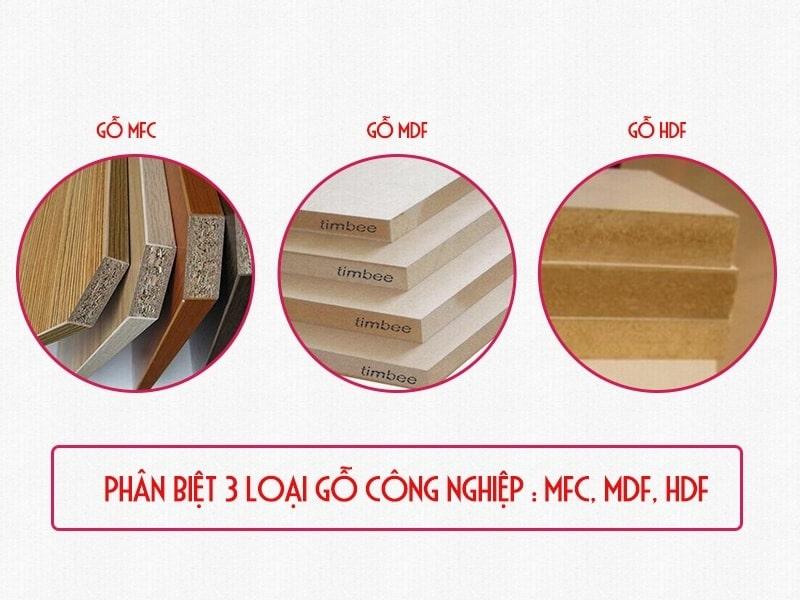 MFC là gì? Phân biệt những loại gỗ công nghiệp: Gỗ MFC, MDF và HDF
