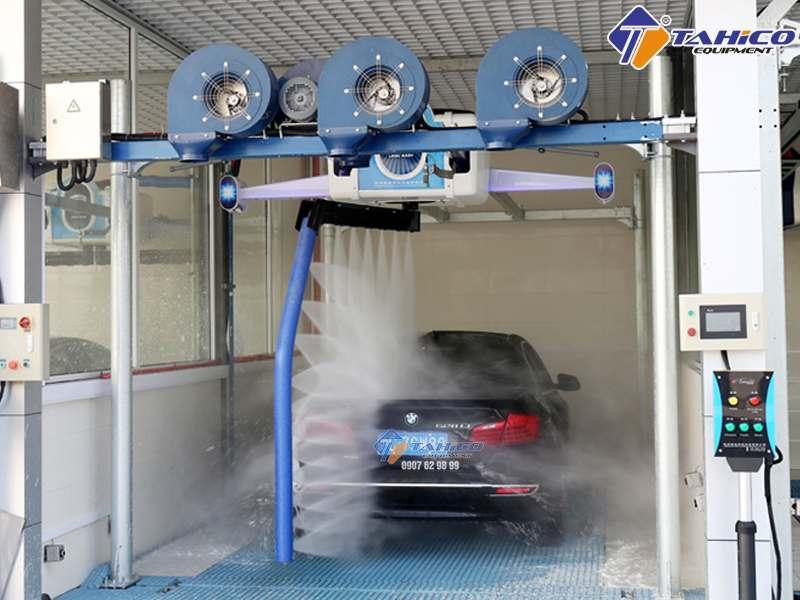 Hệ thống máy rửa xe tự động | Dây chuyền rửa xe tự động giá bao nhiêu?
