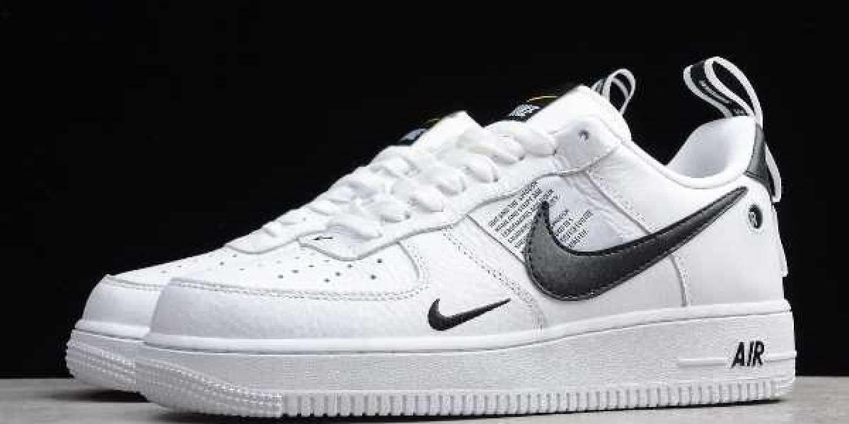 Newness Nike Air Force 1 Low Utility  White/Black-Yellow AJ7747-100 Shoes