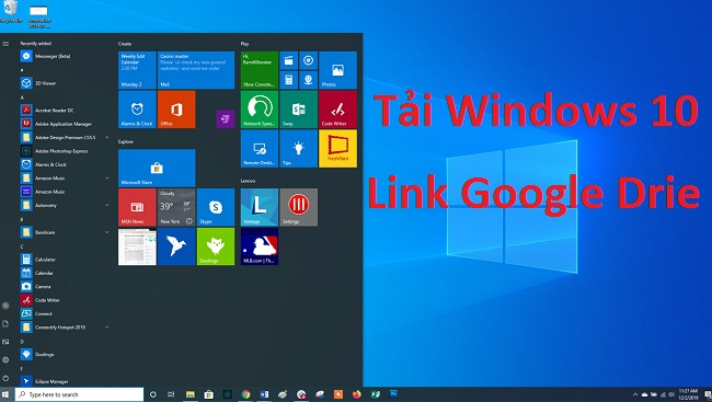 Tải file ISO Windows 10 32/64 Bit AIO - Link Google Drive -