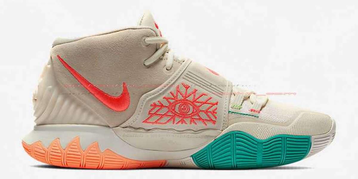 "2020 Nike Kyrie 6 ""N7"" Tan/Light Crimson/Rage Green/Teal/Peach Will Coming in June"