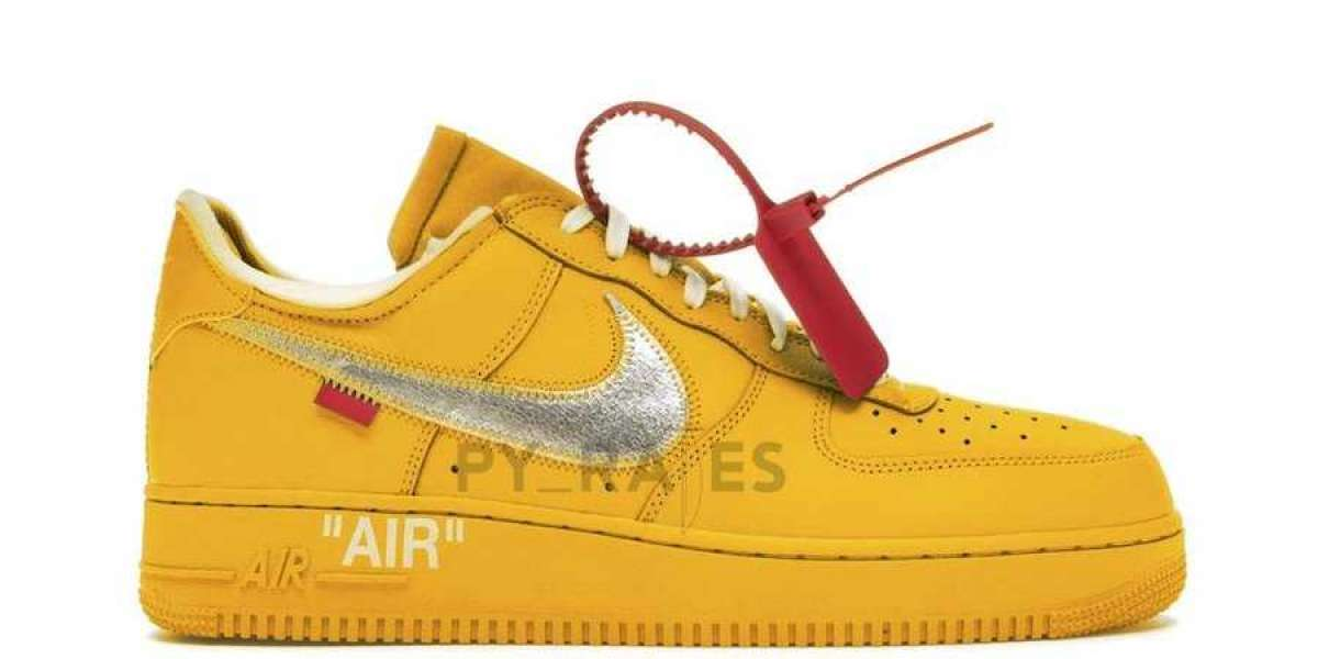 2020 Off-White x Nike Air Force 1 University Gold