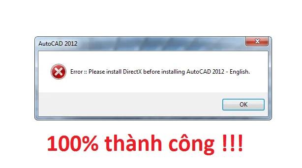 "Sửa lỗi ""Please install DirectX before installing AutoCAD"" 100% thành công!!! -"