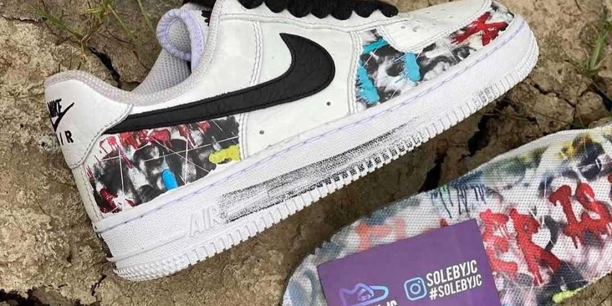 """DD3223-100 PEACEMINUSONE x Nike Air Force 1 """"Para-noise"""" Board Shoes"""