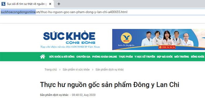Thực hư nguồn gốc sản phẩm Đông y Lan Chi | Báo suckhoecongdongonline đưa tin