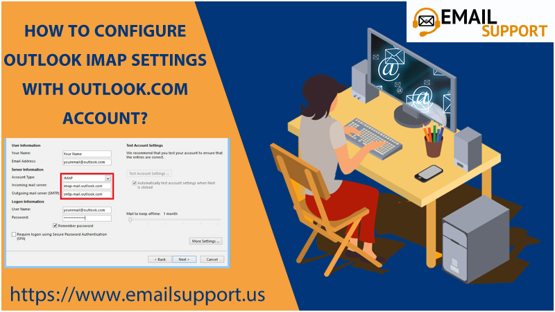 How To Configure Outlook IMAP Settings With Outlook.com account?