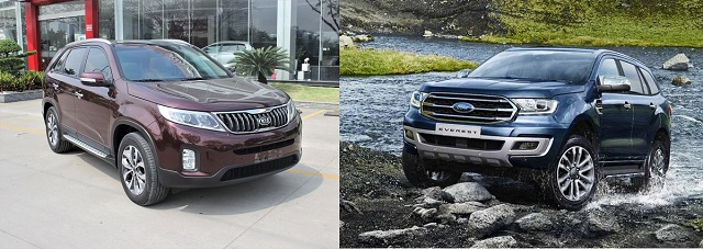 So sánh Ford Everest 2021 và KIA Sorento 2021