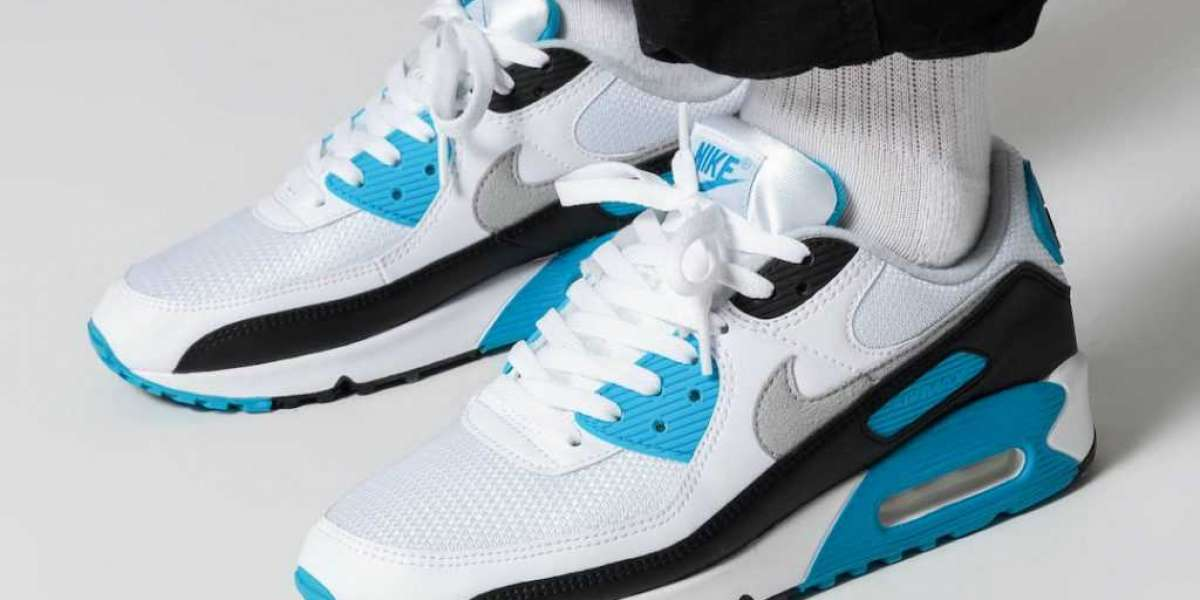 """Brand New Nike Air Max 90 """"Laser Blue"""" CJ6779-100 Classic Basketball Shoes to release on  October 2nd"""