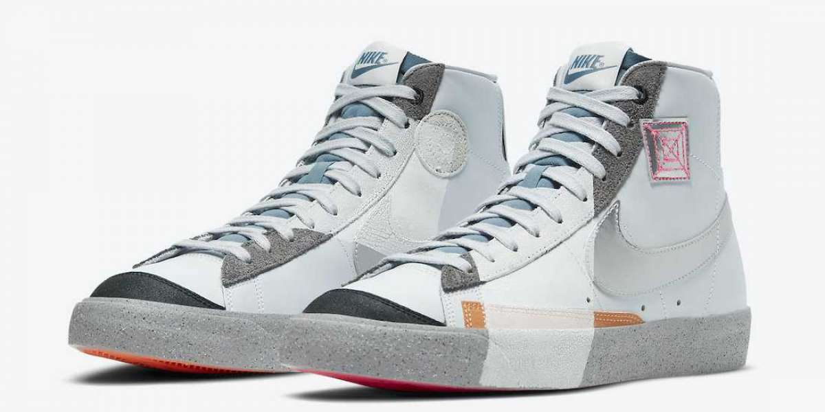 2020 Nike Blazer Mid 77 White Metallic Silver New Released DC9170-001 For Sale Online