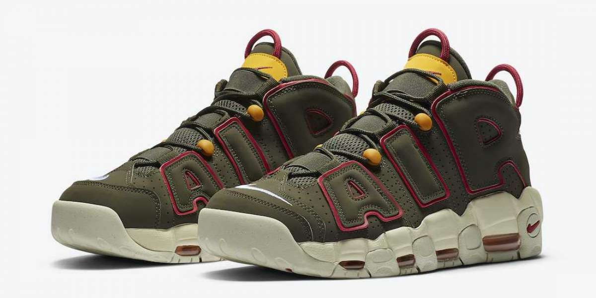 "New Release Nike Air More Uptempo ""Khaki"" DH0622-300 Is a Fall Vibe"