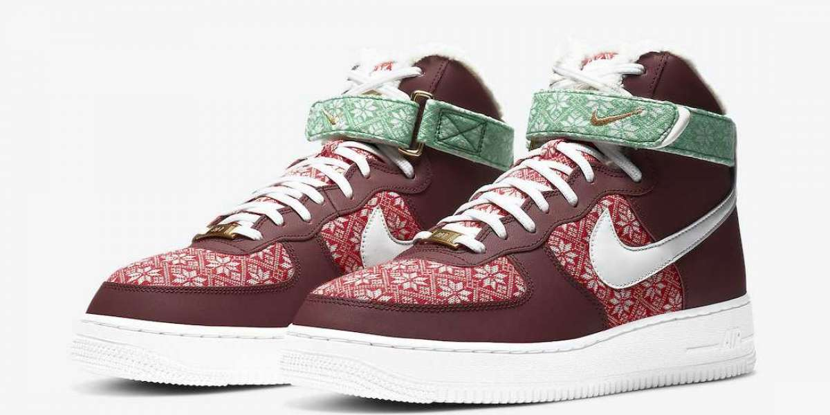 """Latest Nike Air Force 1 High """"Christmas"""" DC1620-600 Snow Boots"""