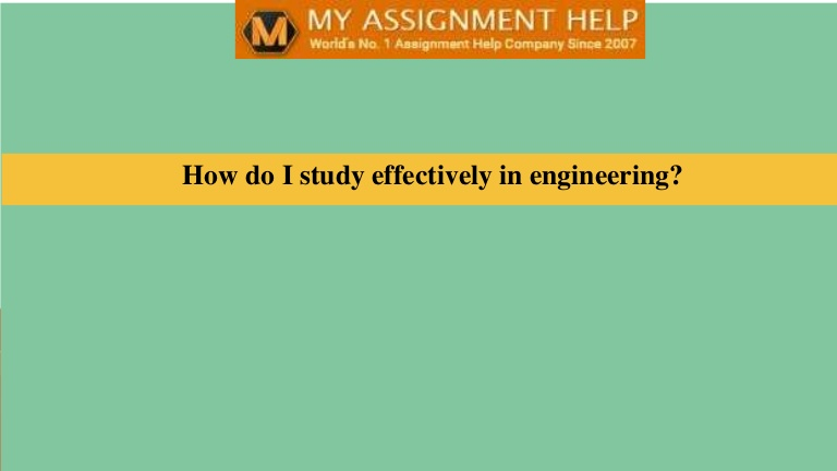 How do I study effectively in engineering?