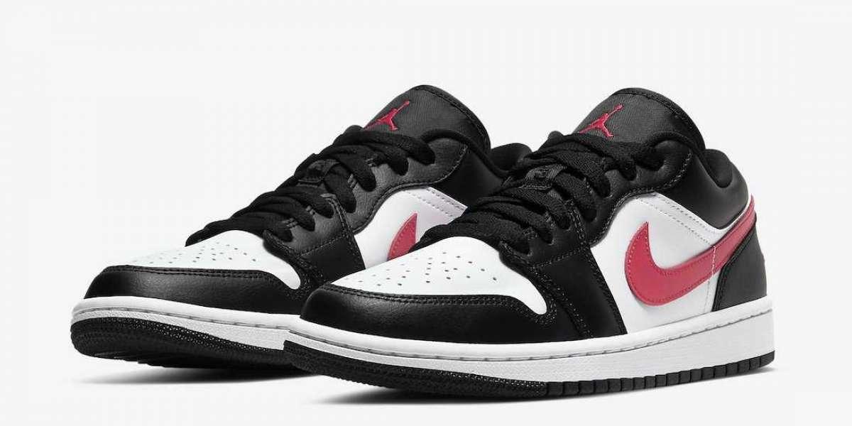 "DC0774-004 Air Jordan 1 Low ""Siren Red"" Basketball Shoes Releasing Soon"