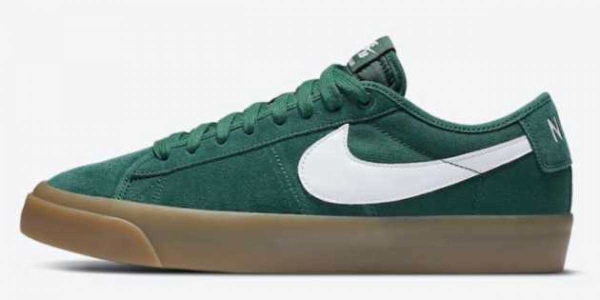 "2020 Classic Nike SB Blazer Low GT ""Green Gum"" Sneakers To Buy DC0603-300"