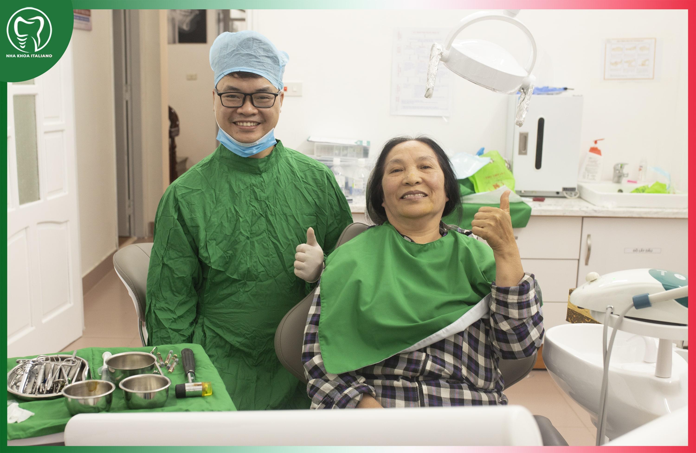 Trồng răng cả hàm cho người già Thái Nguyên - italianodental.com