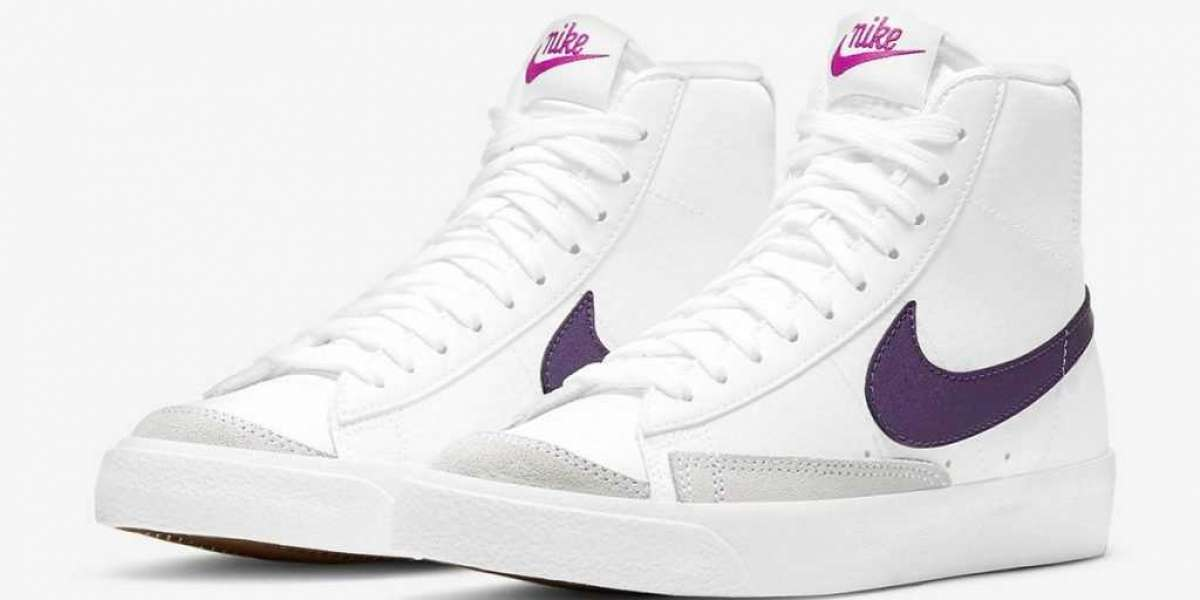 DB9965-100 Nike Blazer Mid '77 White Eggplant shoes are available now