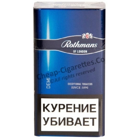 Tax free Rothmans Demi 6mg cigarettes. Free International Delivery!