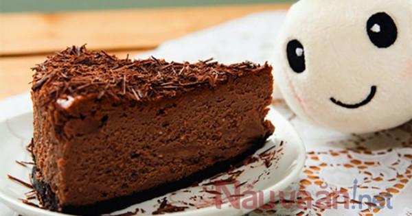 Hướng dẫn làm bánh phomai socola siêu ngon béo ngậy không cần dùng lò nướng.