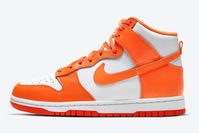 "Nike Dunk High WMNS ""Syracuse"" White/Orange Blaze 2021 New Arrival DD1399-101"