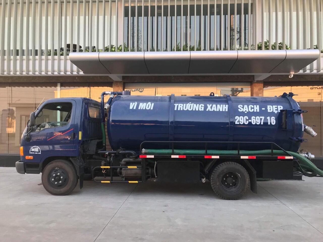 Hút bể phốt tại Trung Hòa giá rẻ, sạch 100% - Cam kết có mặt sau 15 phút
