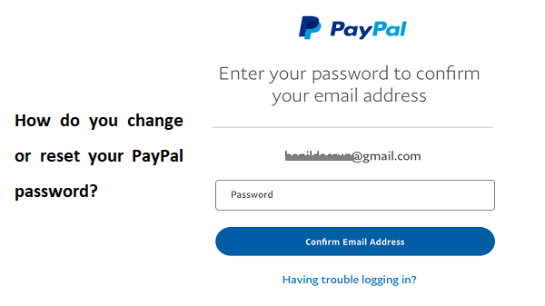 How do you change or reset your PayPal password?