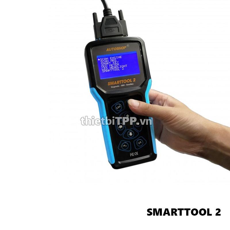 Máy đọc xóa lỗi xe máy FI, mở tua, lập trình smartkey Smarttool 2 bản Full