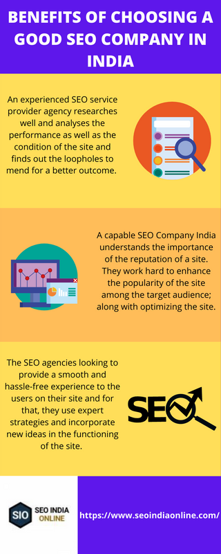 benefits of choosing a good seo company in india infographic — Postimages