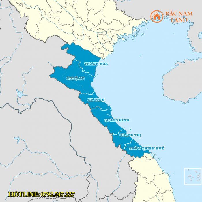 Bắc Trung Bộ gồm những tỉnh nào? Bản đồ hành chính các tỉnh mới nhất