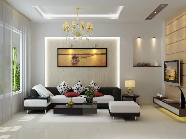 Các bố trí thiết bị đèn led cho phòng khách hợp lý nhất