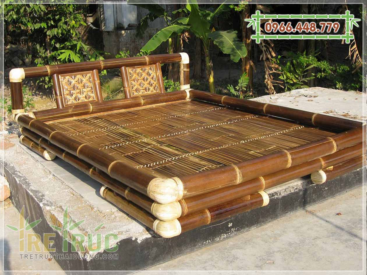 Bán giường tre cao cấp, giường tre trúc giá rẻ tại TPHCM