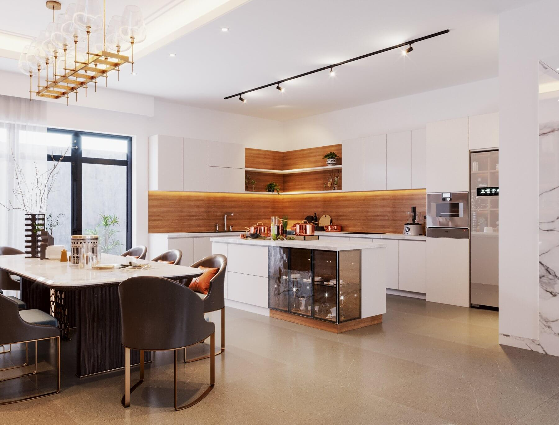 50+ mẫu phòng bếp đẹp cho nhà ống hiện đại, tiện nghi - KDesign